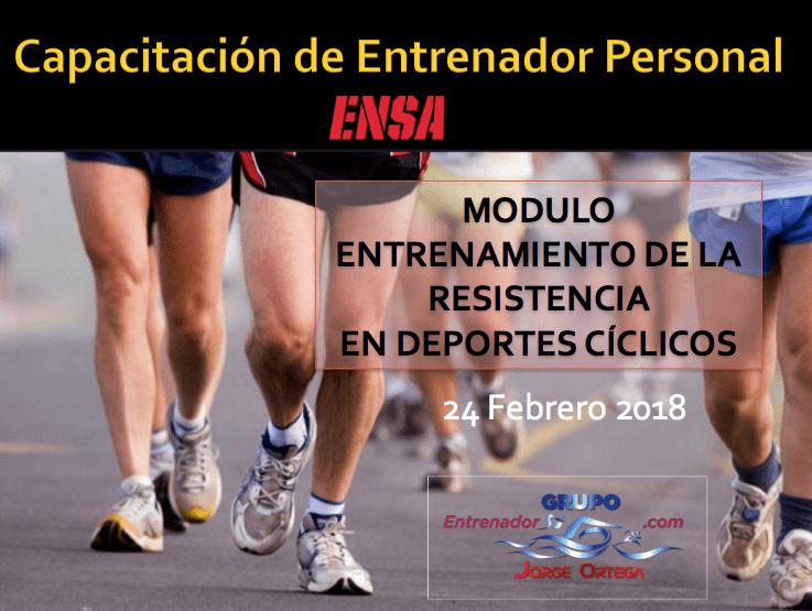 Entrenamiento Resistencia Deportes Cíclicos