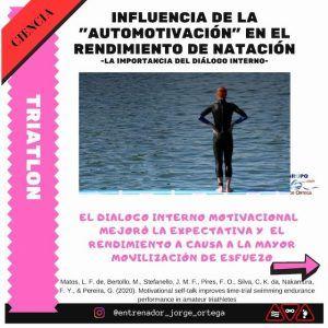 Influencia de la automotivación en natación triatlón