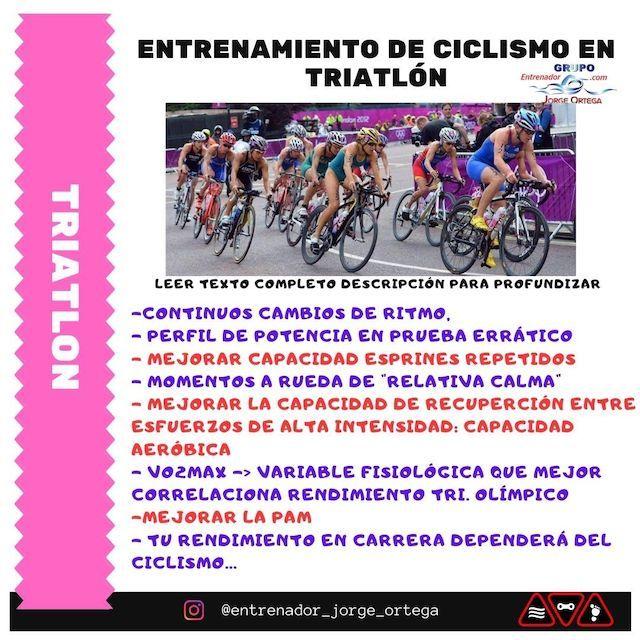 Entrenamiento del segmento ciclista en triatlón